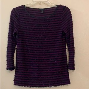 Ann Taylor striped and sequined sweater